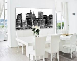 decoración moderna, cuadro metacrilato en salón, cuadros decorativos, impresión digital, impresión en soportes modernos
