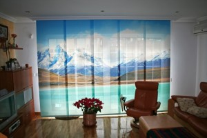 alternativa original, cortinas impresión de fotos, panel japonés, moderno, decoración